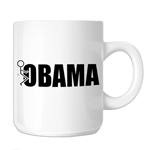 Funny Stick Figure Humping F*ck Obama 11oz. Novelty Coffee Mug