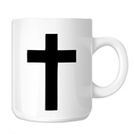 Religious Christian Cross Silhouette 11oz. Novelty Coffee Mug