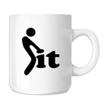 Funny Stick Figure Humping Love It 11oz. Novelty Coffee Mug
