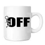 Funny Humping Stick Figure F*ck Off 11oz. Novelty Coffee Mug