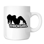 Thick Girl Sexy BBW Silhouette 11oz. Novelty Coffee Mug