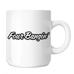 Four Bangin Engine 4 Cylinder JDM 11oz. Novelty Coffee Mug