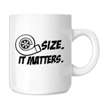 JDM Size Matters Turbo Boost 11oz. Novelty Coffee Mug