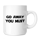 Funny Yoda Parody Go Away You Must 11oz. Novelty Coffee Mug