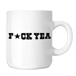 Funny F*ck Yeah Star 11oz. Novelty Coffee Mug