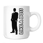 Like a Boss Guy Silhouette 11oz. Novelty Coffee Mug