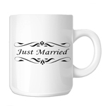 Just Married Bride Groom Wedding 11oz. Novelty Coffee Mug