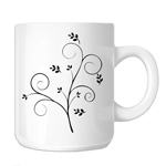 Pretty Floral Branch 11oz. Novelty Coffee Mug