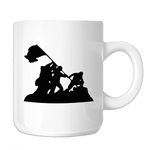 Iwo Jima WWII Silhouette 11oz. Novelty Coffee Mug