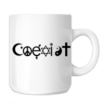 Coexist Religion Peace 11oz. Novelty Coffee Mug