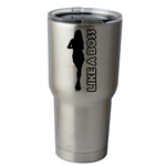 30 oz. SIC Cup with Decal Like a Boss Girl Silhouette Thermos Mug Pint Glass Container