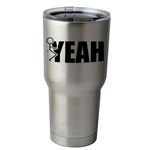 30 oz. SIC Cup with Decal Funny Humping Stick Figure F*ck Yeah Thermos Mug Pint Glass Container