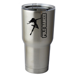 30 oz. SIC Cup with Decal Sexy Pole Dancer Girl Silhouette Thermos Mug Pint Glass Container