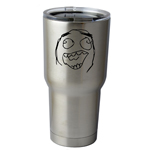 30 oz. SIC Cup with Decal Funny Laughing Meme Face Thermos Mug Pint Glass Container