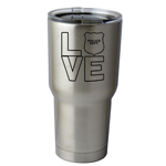 30 oz. SIC Cup with Decal I Love the Police Thermos Mug Pint Glass Container