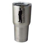 30 oz. SIC Cup with Decal Like a Boss Guy Silhouette Thermos Mug Pint Glass Container