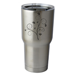 30 oz. SIC Cup with Decal Pretty Floral Branch Thermos Mug Pint Glass Container