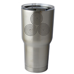 30 oz. SIC Cup with Decal Celtic Circle Swirls Thermos Mug Pint Glass Container