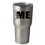 30 oz. SIC Cup with Decal Funny Humping Stick Figure F*ck Me Thermos Mug Pint Glass Container