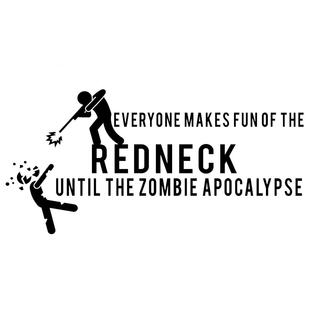 Funny Redneck Zombie Apocalypse Walkers Vinyl Sticker Car