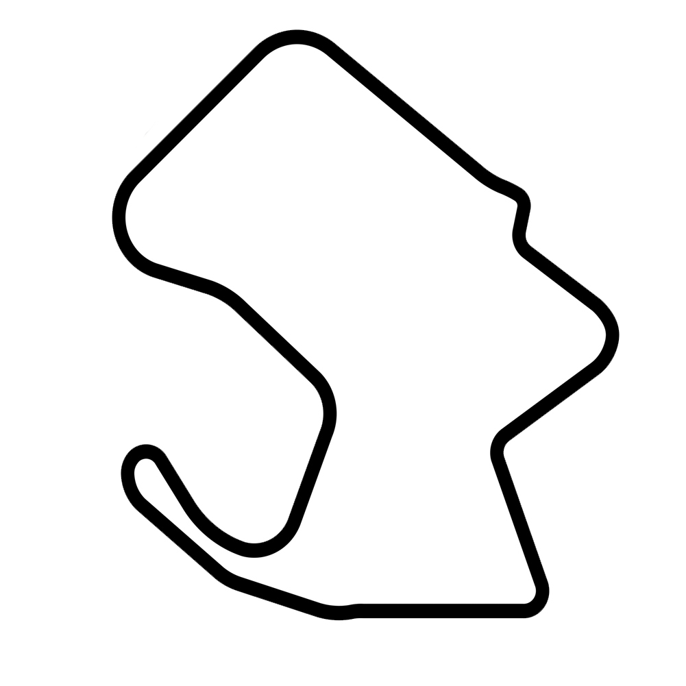 Laguna Seca Raceway Track Map Racing Vinyl Sticker Car Decal