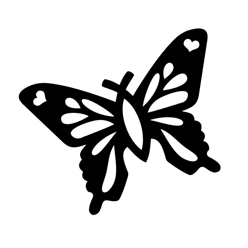 Christian Butterfly Silhouette Vinyl Sticker Car Decal