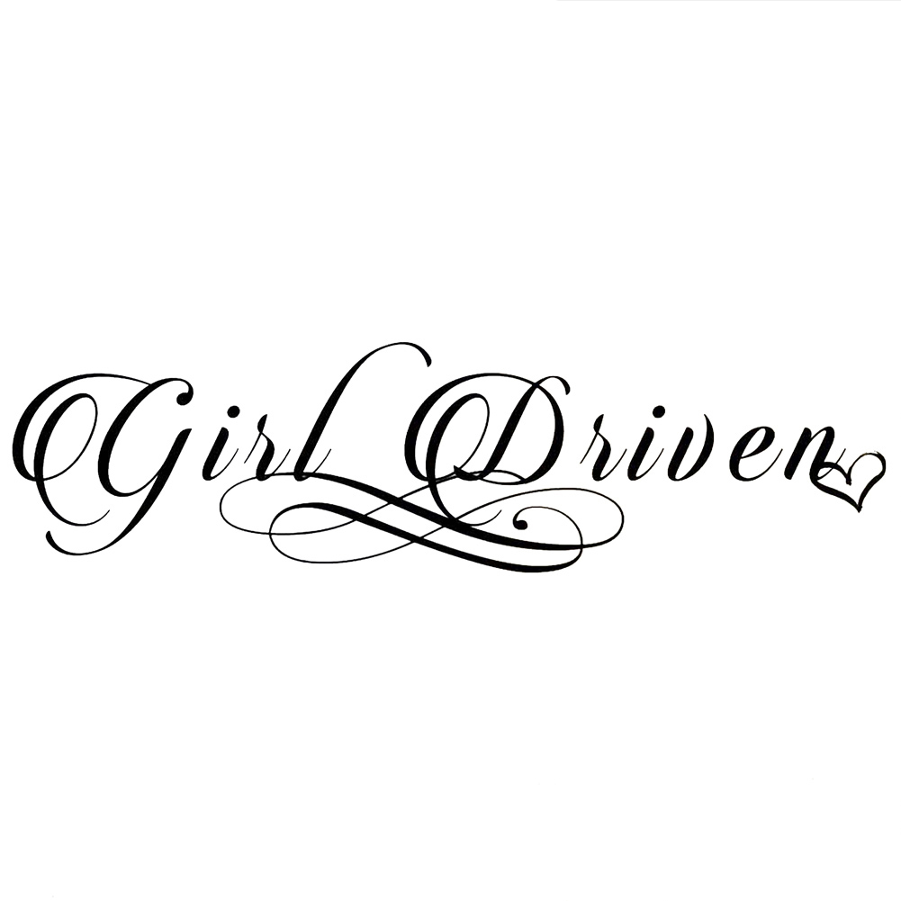 JDM Girl Driven Script Vinyl Sticker Car Decal