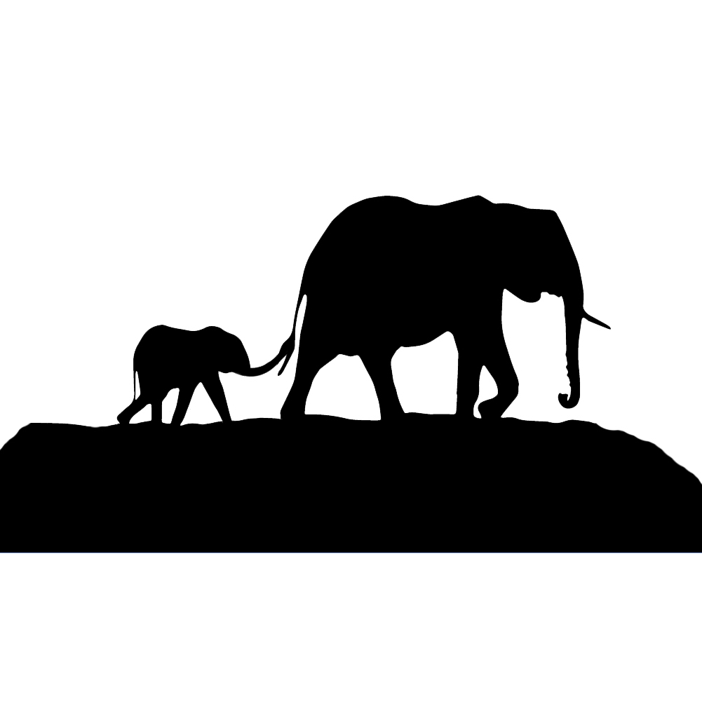 Baby Elephant Love Her Mother Coloring Page   Elephants ...   Mom And Baby Elephant Outline