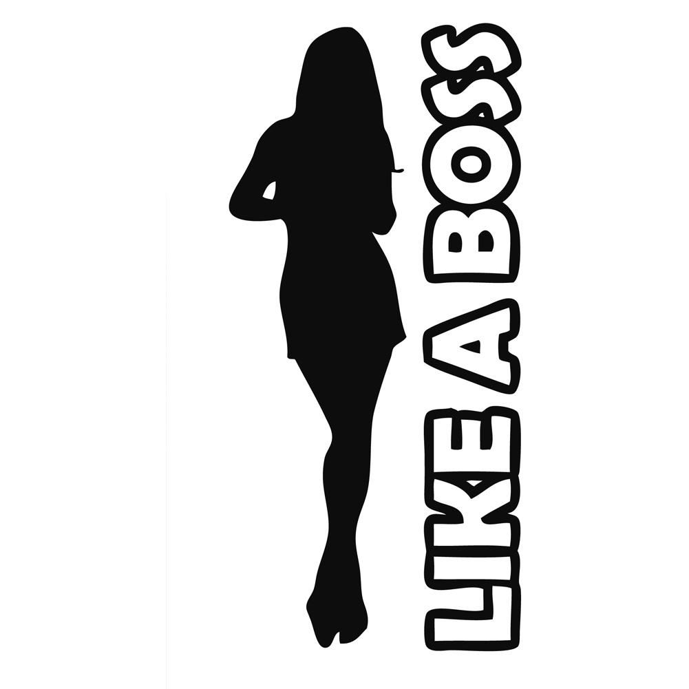 Like a Boss Girl Silhouette Vinyl Sticker Car Decal