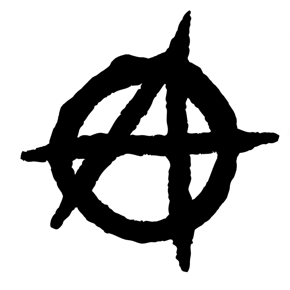 Anarchy Symbol Outline Vinyl Sticker Car Decal