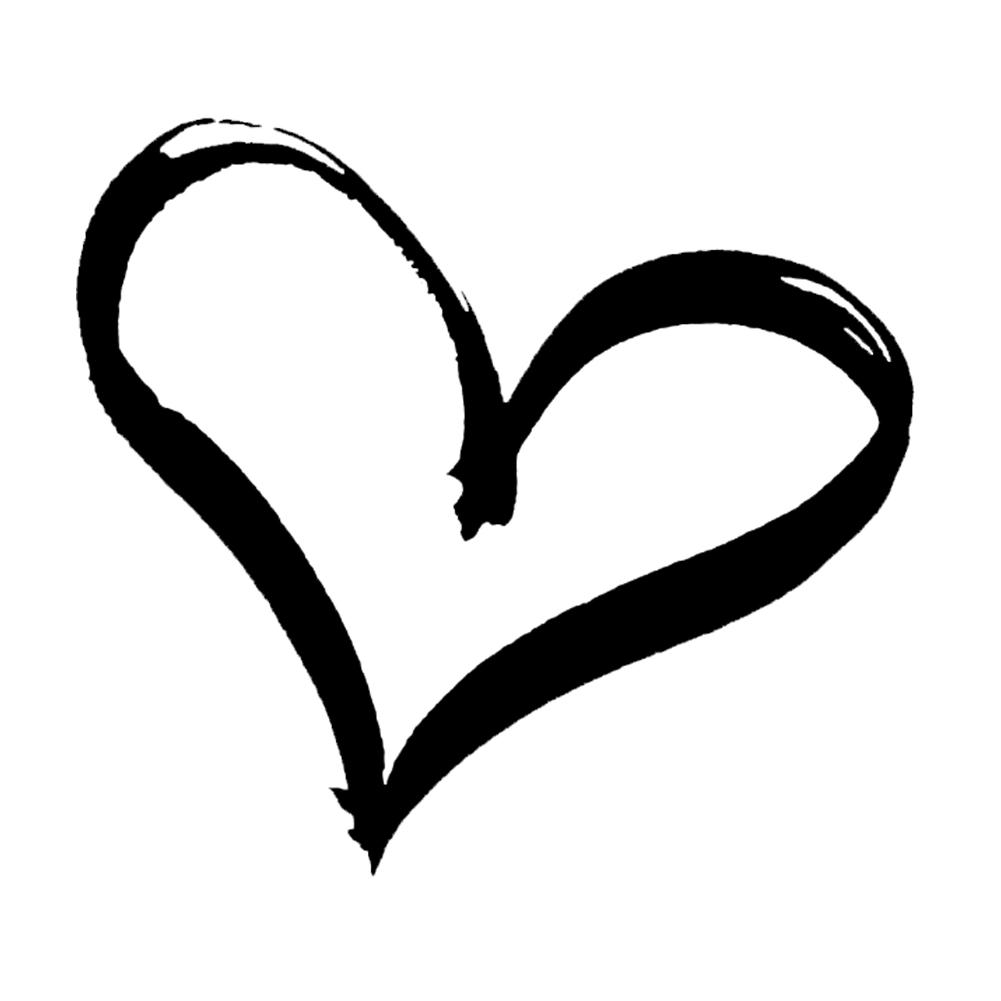 Heart Love Peace Vinyl Sticker Car Decal