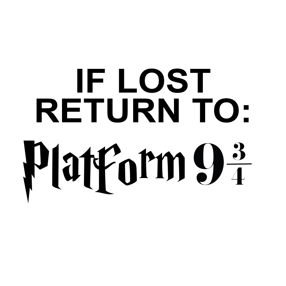 If Lost Return to Platform 9 3/4 Vinyl Sticker Car Decal