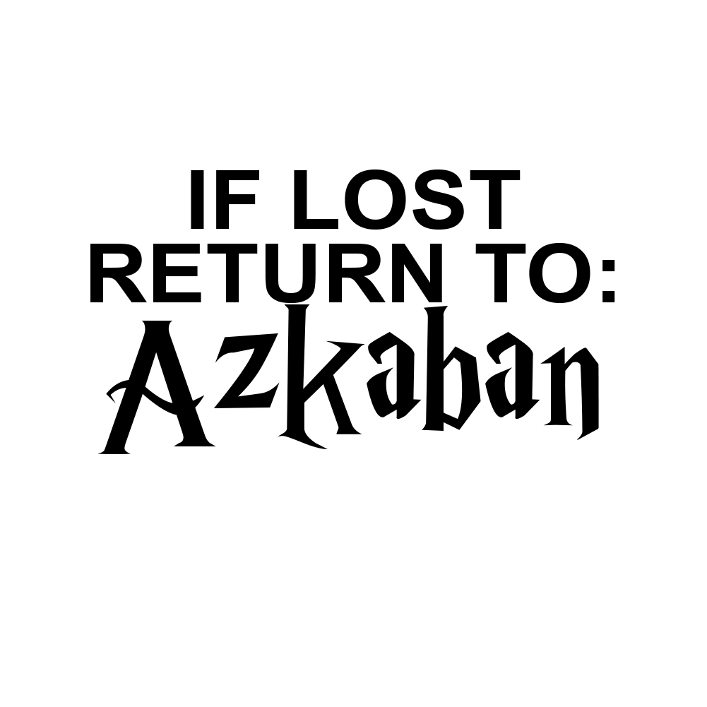 If Lost Return to Azkaban Vinyl Sticker Car Decal