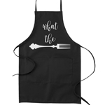What the Fork Pun Funny Parody Cooking Baking Kitchen Apron