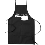 Chop it Like It's Hot Knife Block Pun Funny Parody Cooking Baking Kitchen Apron