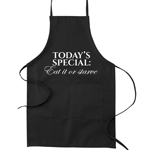 Today's Special: Eat it or Starve Funny Parody Cooking Baking Kitchen Apron