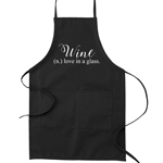Wine is Love in a Glass Funny Parody Cooking Baking Kitchen Apron