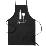 You Had Me At Merlot Funny Parody Cooking Baking Kitchen Apron