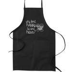 Why Limit Happy to One Hour Funny Parody Cooking Baking Kitchen Apron