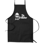 The Grillfather Pun Funny Parody Cooking Baking Kitchen Apron