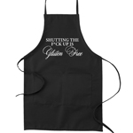 Shutting the F*ck Up is Gluten Free Funny Parody Cooking Baking Kitchen Apron