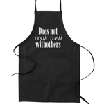 Does Not Cook Well With Others Funny Parody Cooking Baking Kitchen Apron