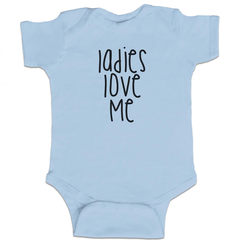 f57c9b1cc Ladies Love Me Funny Baby Boy Bodysuit Infant