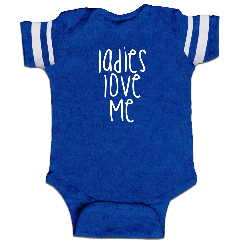 4ee6fac14 Ladies Love Me Funny Baby Boy Jersey Bodysuit Infant