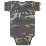 Mama's Boy Funny Baby Boy Camouflage Bodysuit Infant