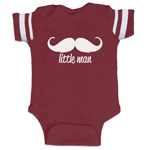 Little Man Mustache Funny Baby Boy Jersey Bodysuit Infant