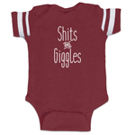 Shits And Giggles Funny Baby Boy Jersey Bodysuit Infant