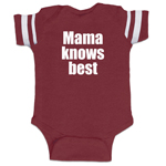 Mama Knows Best Funny Baby Boy Jersey Bodysuit Infant