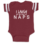 I Laugh In The Face Of Naps Funny Baby Boy Jersey Bodysuit Infant