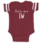 Girls Are EW Funny Baby Boy Jersey Bodysuit Infant